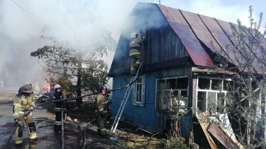 В Екатеринбурге произошел новый крупный пожар. Фото