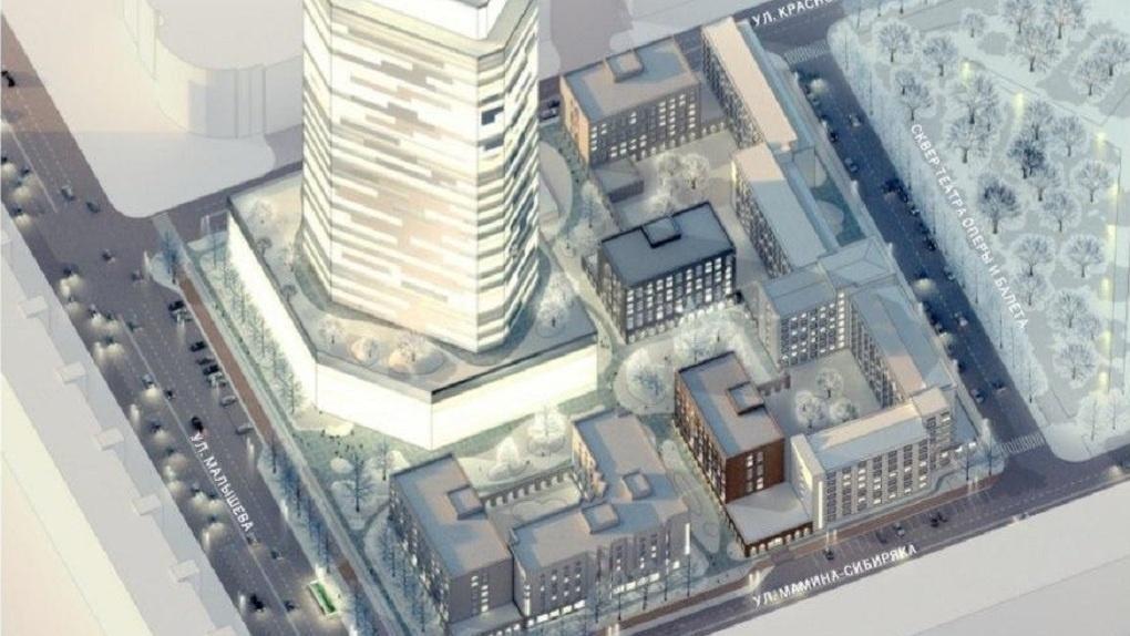Рядом с «Большим Уралом» появятся жилые многоэтажки. Это главное условие для достройки Opera Tower