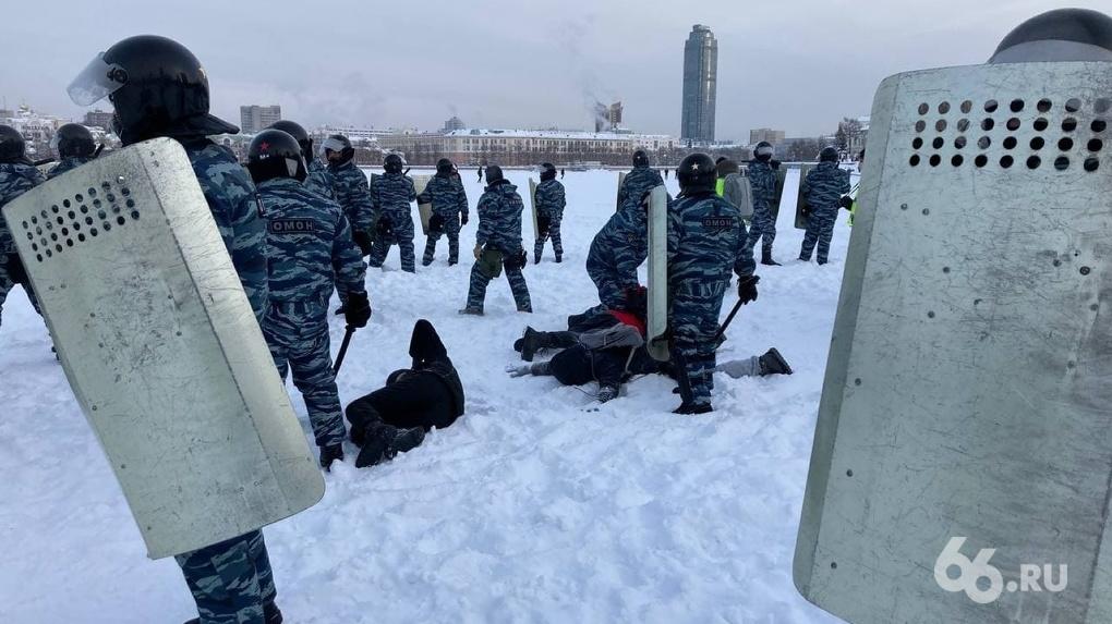 Итоги протестных акций в защиту Навального: по всей Свердловской области полицейские задержали 30 человек