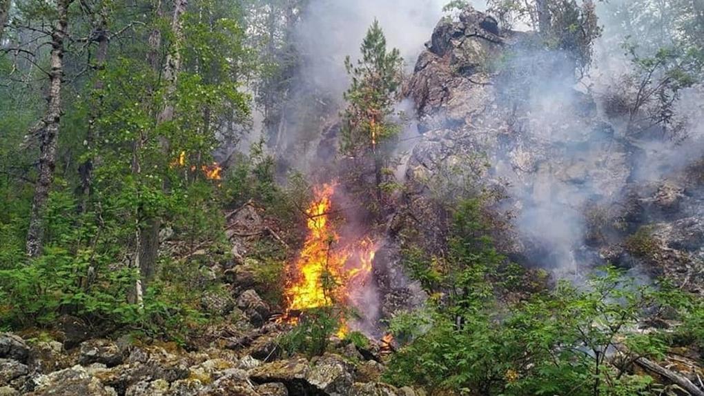 В заповеднике «Денежкин камень» новый пожар