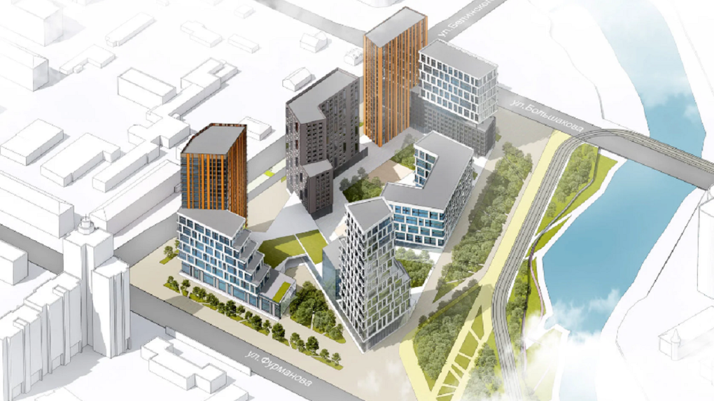Бюро бывшего главного архитектора города спроектировало футуристичный жилой комплекс на землях ФСБ. Фото