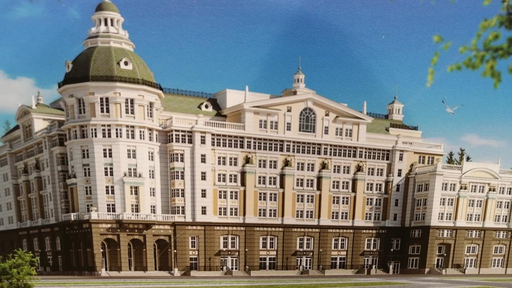 Посмотрите, как должна выглядеть гостиница «Дели» у цирка. Власть надеется ее достроить к юбилею города