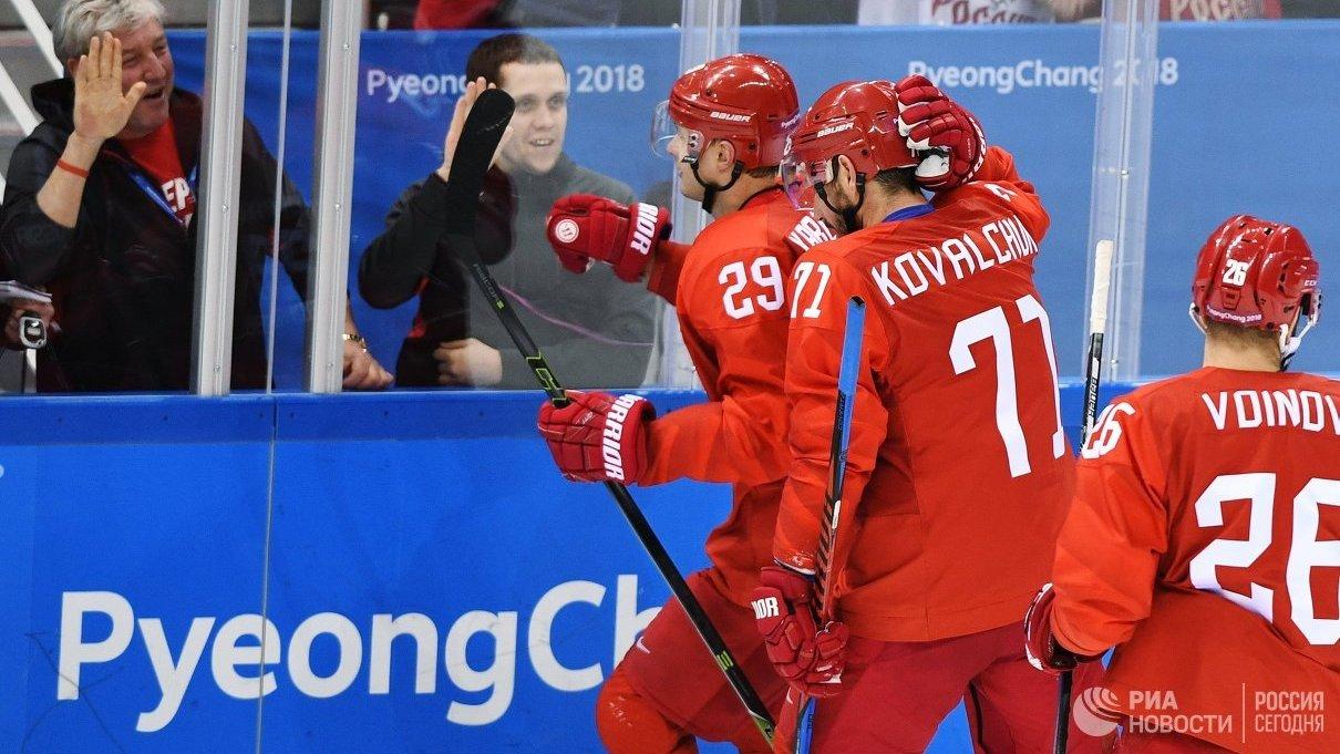 Сборная РФ впринципиальном матче разгромила американцев наОлимпиаде вПхенчхане