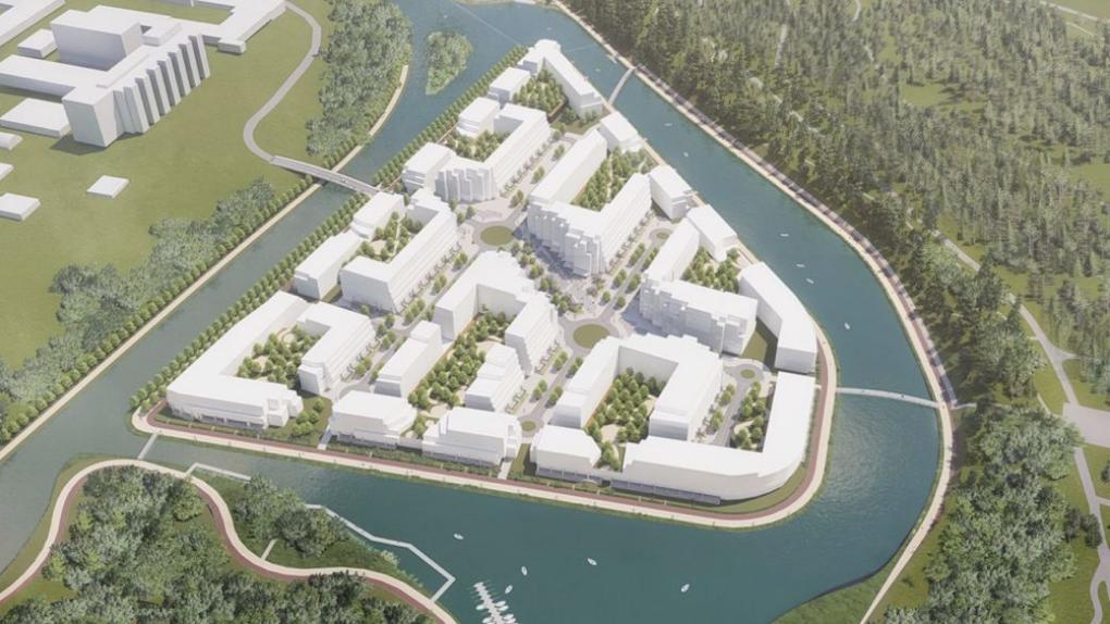 У ЦПКиО запроектировали жилой остров и новую набережную. Но нужно разболотить парковый пруд